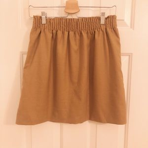 J. Crew Camel Colored Skirt, Size 6